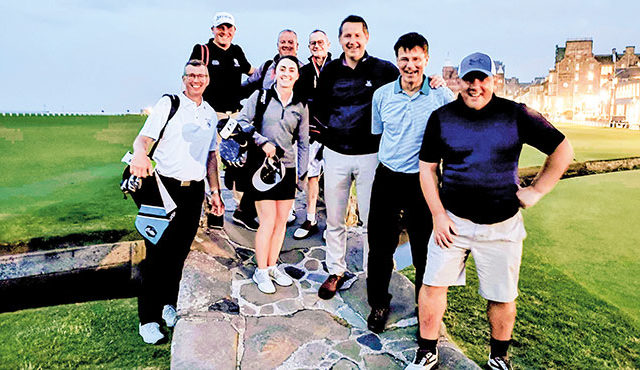 Eight golfers completed a day of golf that saw them play Prestwick Golf Course, Musselburgh Links, North Berwick's West Links and the New Course in St Andrews, all in the space of 18 hours. Read more...
