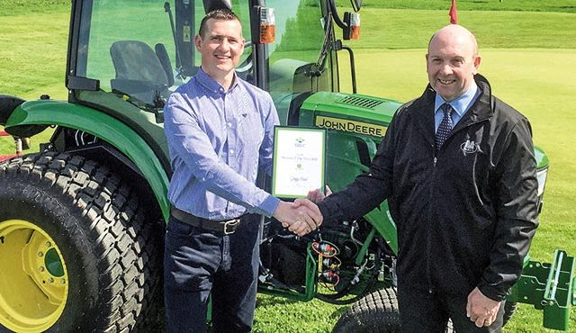 A CAREER change in his early 40s has led to trainee greenkeeper Gregg Hood