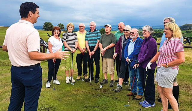 Members of a community group in South Ayrshire have been aided in their bid to take up golf by a council-led scheme