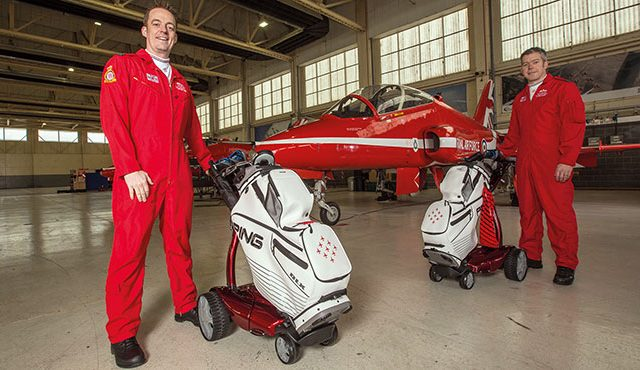 Stewart Golf recently announced a new sponsorship with the Royal Air Force Aerobatic Team