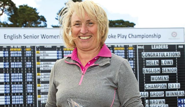 Senior international Helen Lowe overcame a six-shot deficit to win her second national championship.