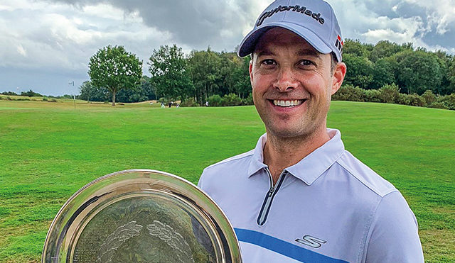 Kent golf pro Richard Wallis topped the