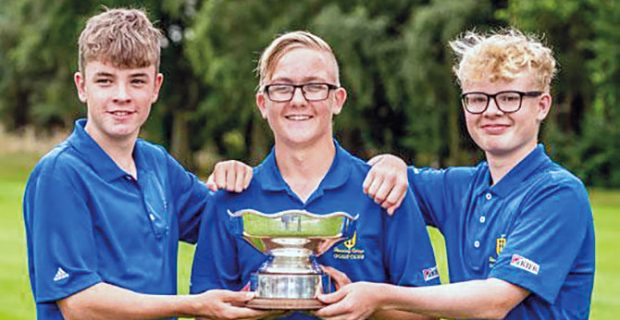 Shropshire junior trio clinch England Golf club title