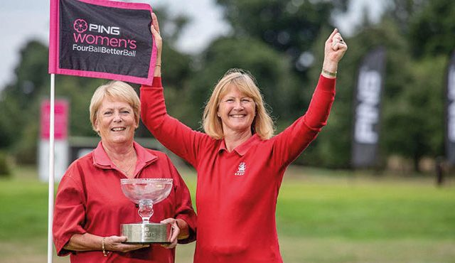 Linda Woods and Pauline Nash put the sparkle on their club's 130th anniversary celebrations