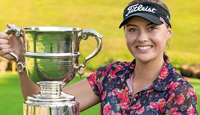 Georgina Blackman showed nerves of steel to win the English Women's Amateur Championship
