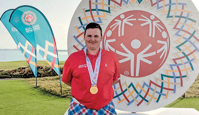 SCOT WINS GOLD AT SPECIAL OLYMPICS